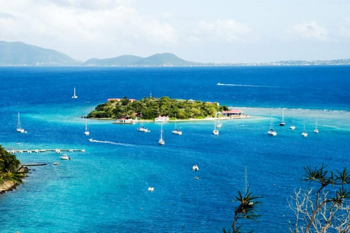 View to Marina Cay and Virgin Gorda, British Virgin Islands