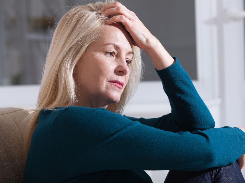Woman suffering from panic attacks