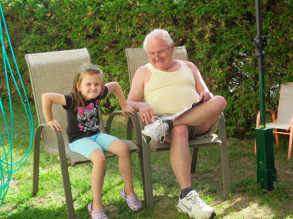 Granddaughter with her grandpa