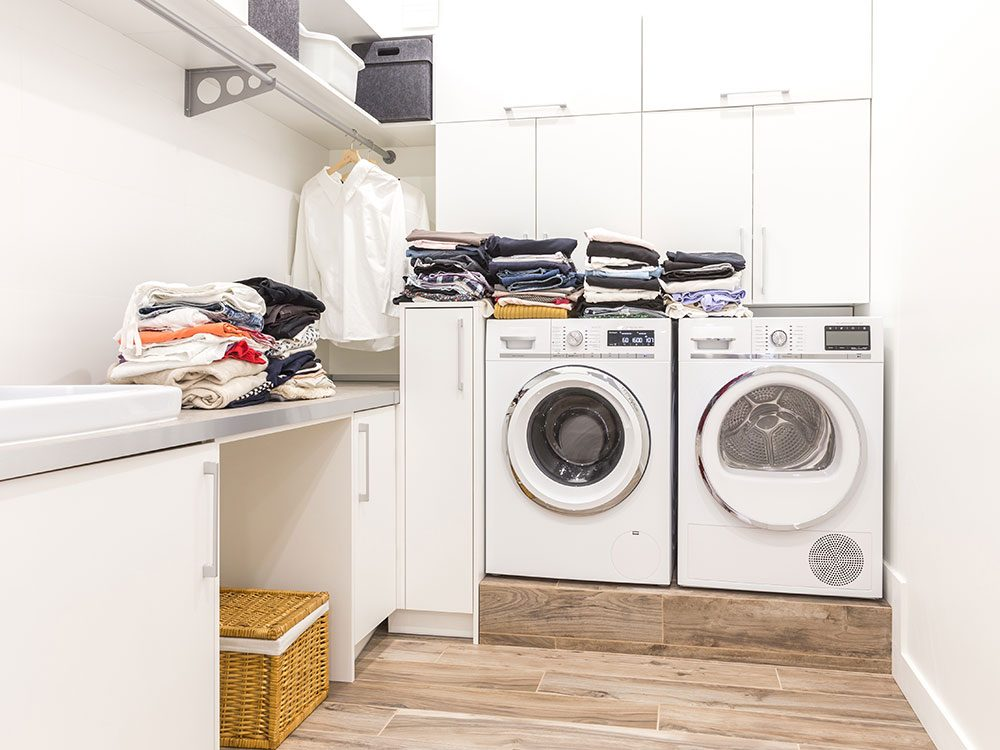 Use coffee cans in the laundry room