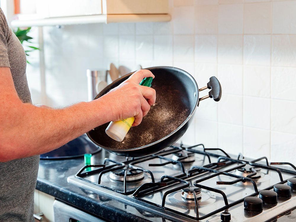 Uses for cooking spray