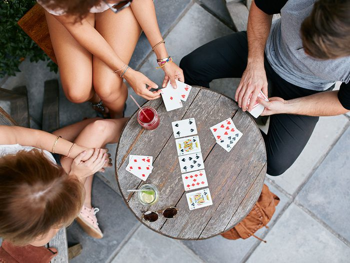 Uses for Flour: Freshen Playing Cards