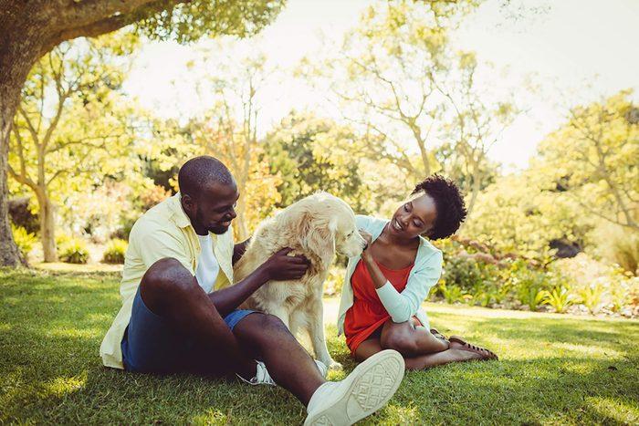 Dog owner couple