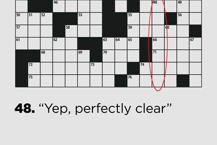 """Yep, perfectly clear"""