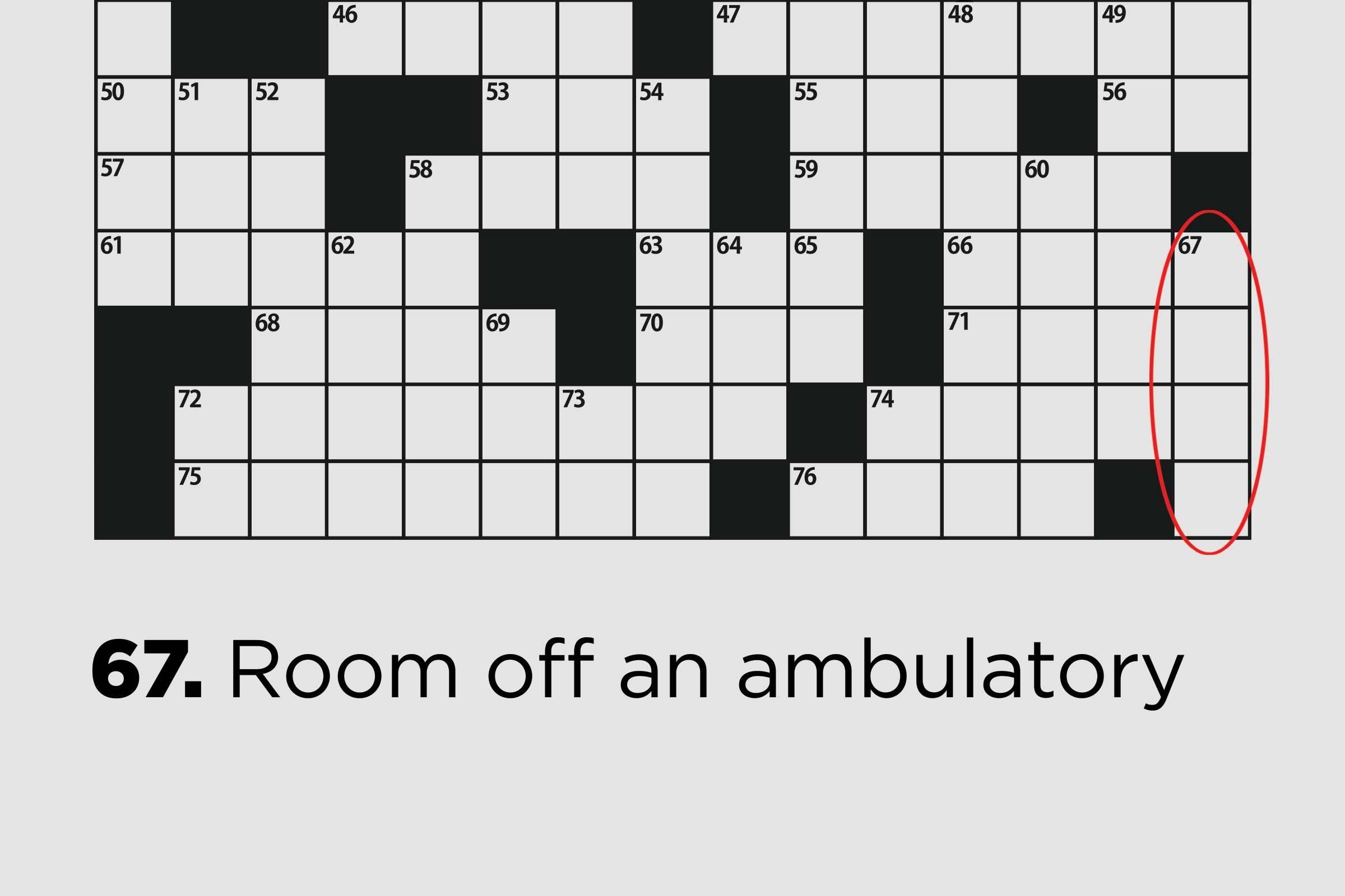 room off an ambulatory