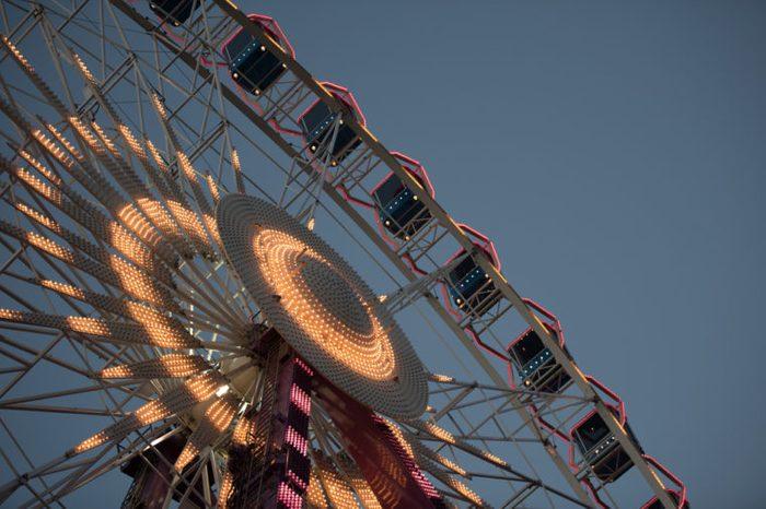 ferris wheel in the night