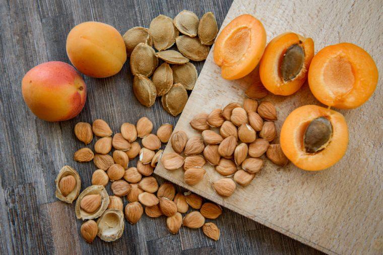 Mango, peach and nectarine pits
