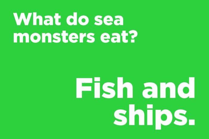 sea monsters eat