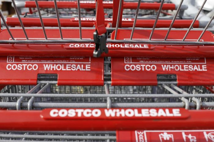 Hold for Business Photo-- Swayne Hall--These are shopping carts at a Costco in Homestead, Pa., on