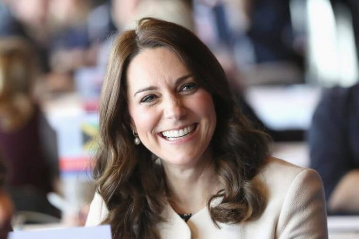 Catherine Duchess of Cambridge takes part in a Commonwealth Quiz in which athletes, coaches and supporters are questioned on their knowledge of the Commonwealth, during their visit to the Copperbox Arena, Stratford