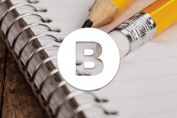 English alphabet letter B
