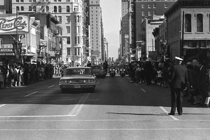 Dallas street circa 1963