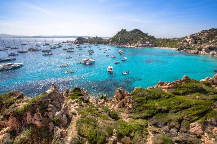 Cala Corsara, Maddalena archipelago on Sardinia island, Italy