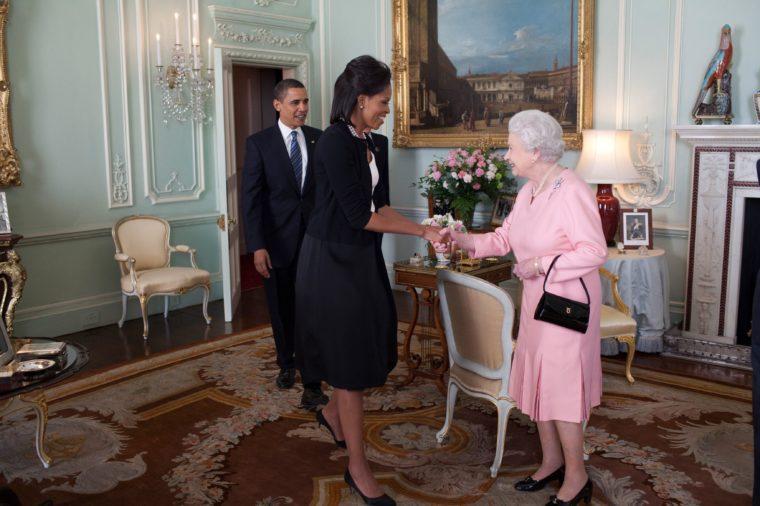 Michelle Obama and Queen Elizabeth
