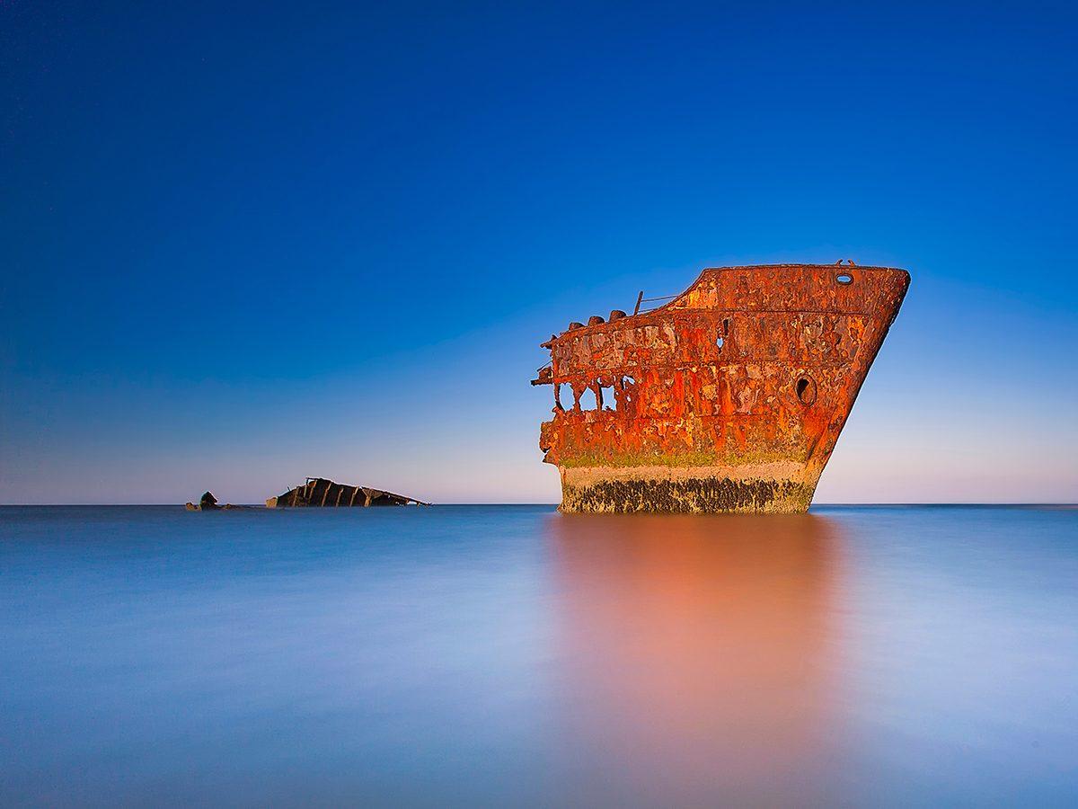 Creepy photos - Baltray shipwreck