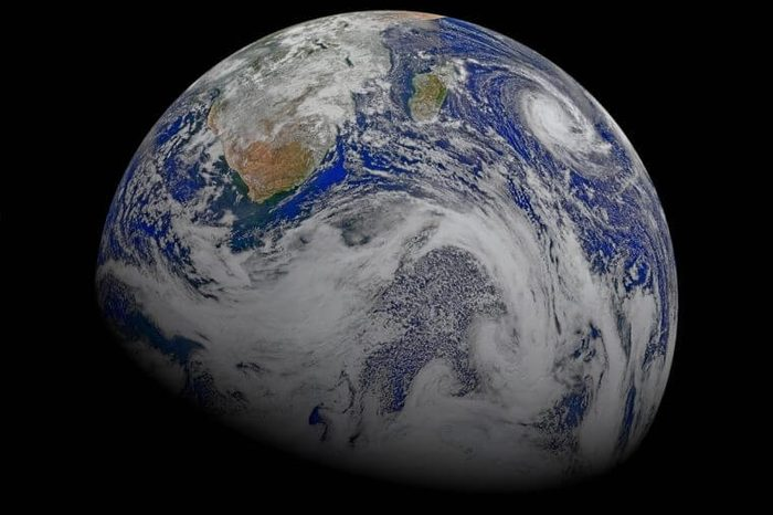 This composite image of southern Africa and the surrounding oceans was captured by six orbits of the NASA/NOAA Suomi National Polar-orbiting Partnership spacecraft on April 9, 2015, by the Visible Infrared Imaging Radiometer Suite (VIIRS) instrument. Tropical Cyclone Joalane can be seen over the Indian Ocean. Winds, tides and density differences constantly stir the oceans while phytoplankton continually grow and die. Orbiting radiometers such as VIIRS allows scientists to track this variability over time and contribute to better understanding of ocean processes that are beneficial to human survival on Earth.