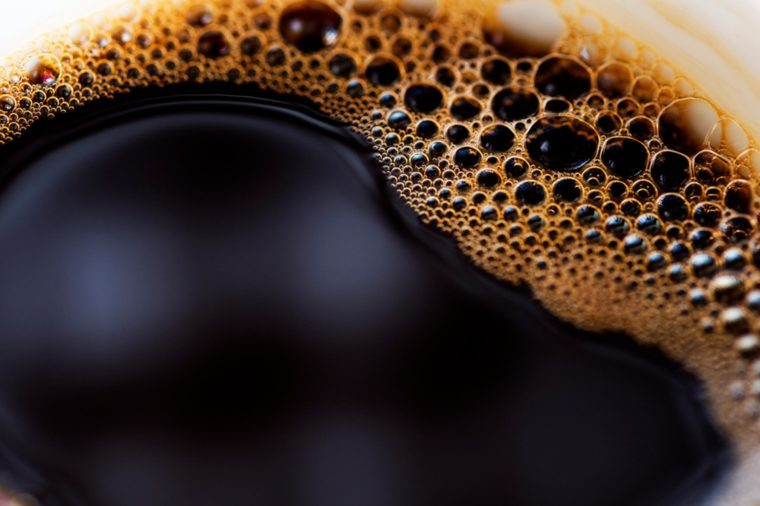 Close-up of black coffee