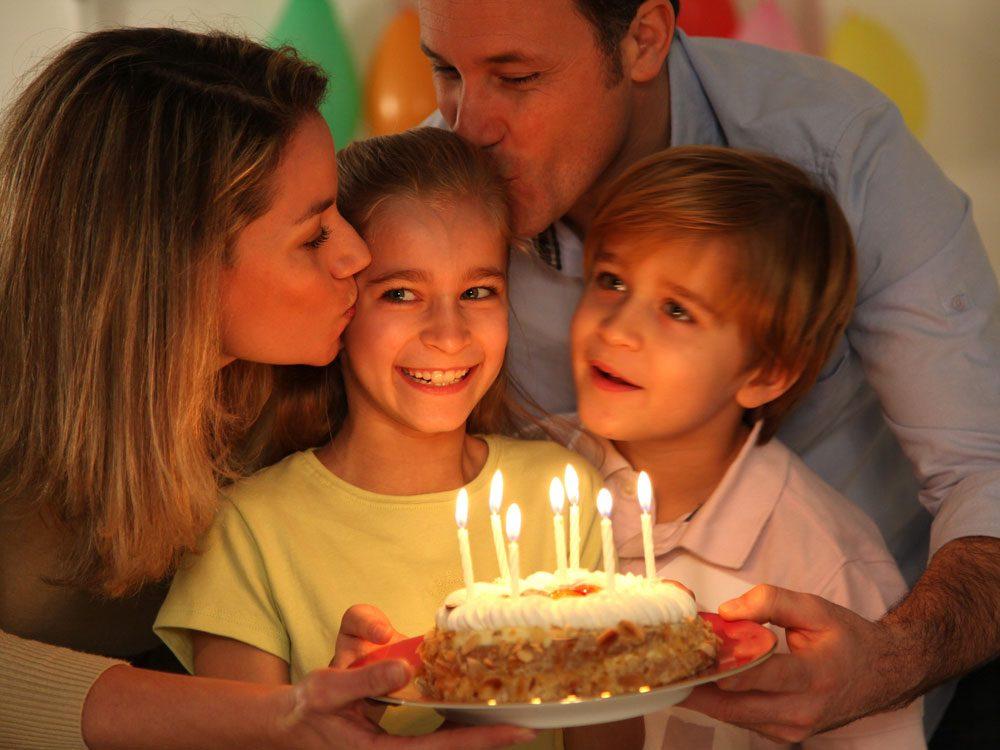 Celebrating child's birthday