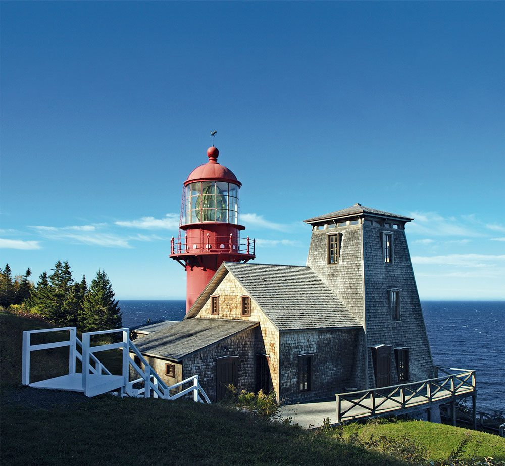 Pointe a la Renommee Lighthouse in the Gaspe Peninsula