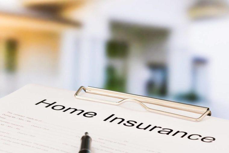 Home insurance document