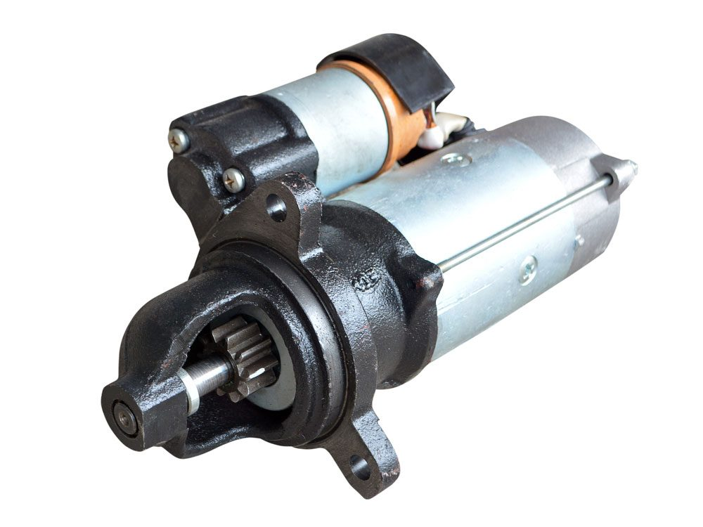Car starter with solenoid