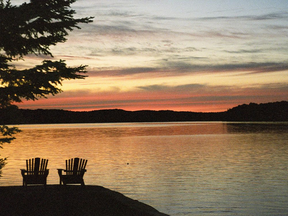 Late evening at the cottage