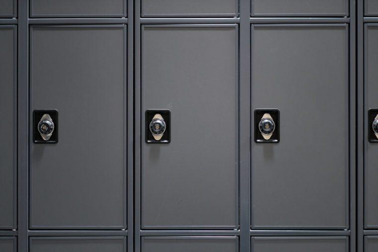 Lockers in high school