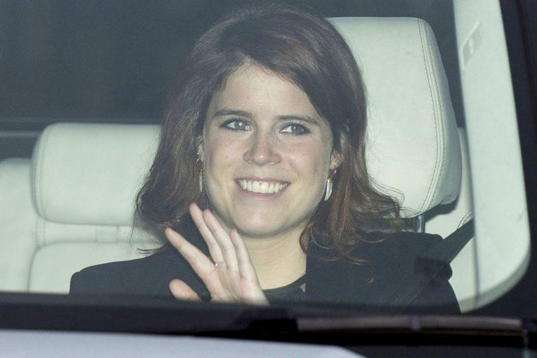 Princess Eugenie driving car