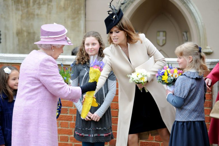 Queen Elizabeth and Princess Eugenie attender Easter Service