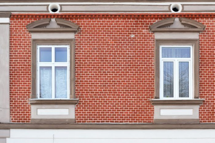 Windows of an old building.