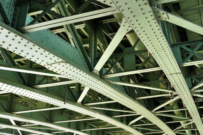 Steel bridge construction