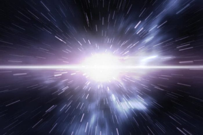 Futuristic timetravel or space warp. 3D rendering