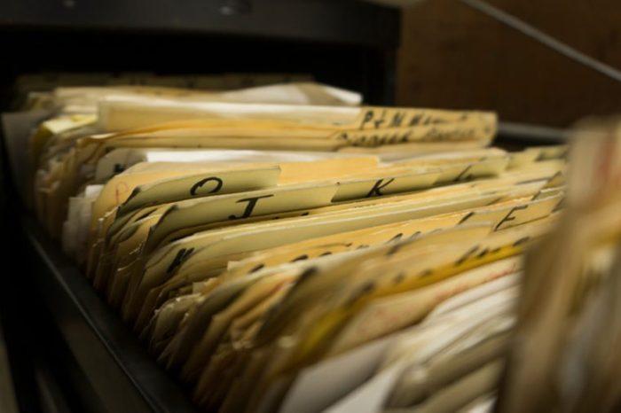 File cabinet full of files in manila folders