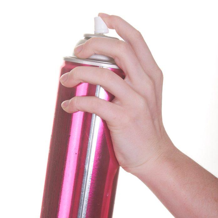 Hairspray isolated