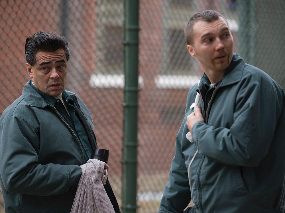 """Benicio del Toro and Paul Dano in """"Escape at Dannemora"""""""