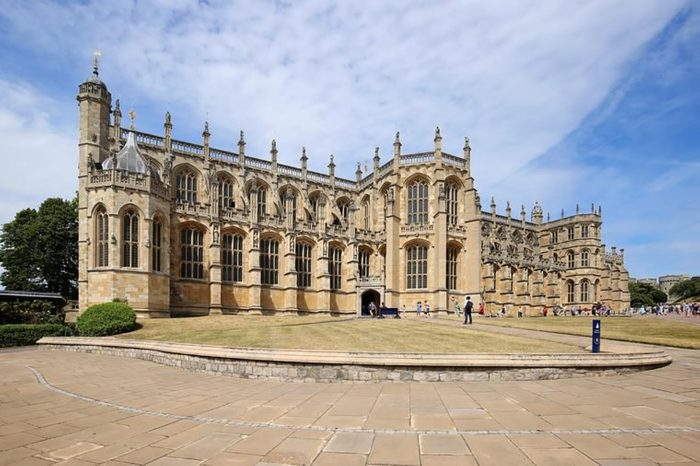 WINDSOR, ENGLAND, UK - JULY 7: St George's Chapel, built in the 14th century a place of worship for Queen Elizabeth II and the burial place of her mother, Queen Elizabeth as seen on July 7, 2017.