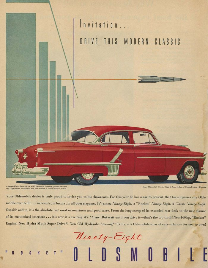 '52 oldsmobile ad
