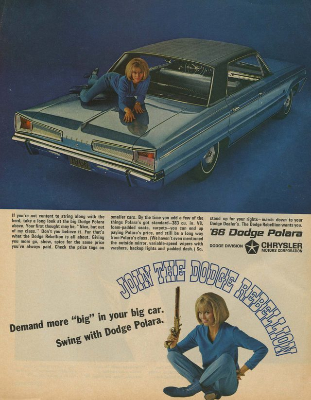 '66 dodge polara ad