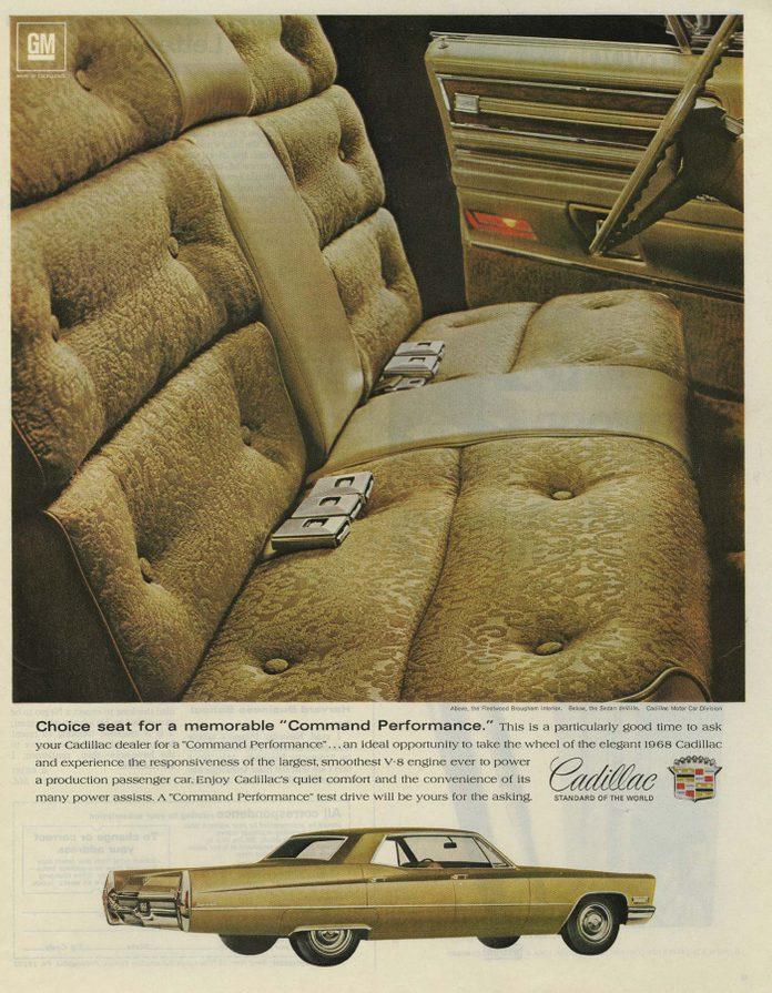 '68 cadillac ad