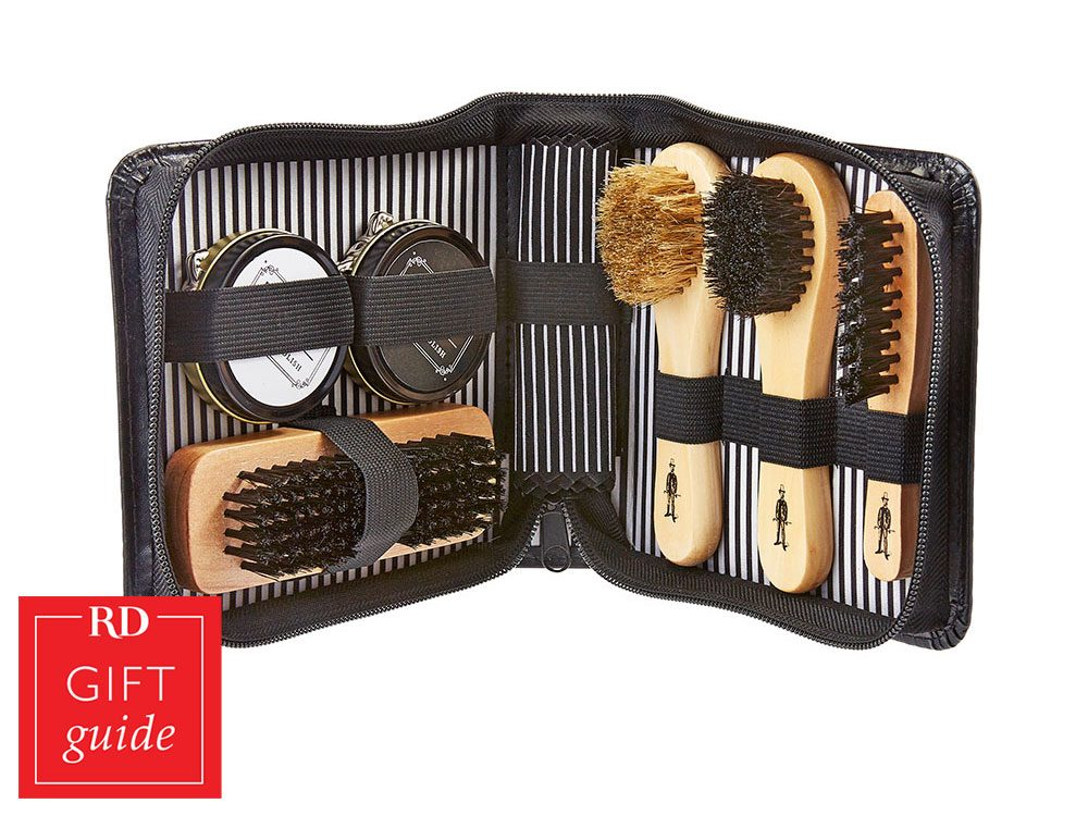 Canadian Gift Guide - Shoe polishing kit from Marshalls