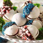 Chocolate-Dipped Meringue Sandwich Cookies