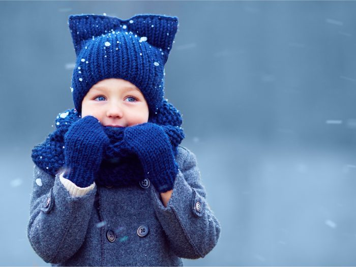 Kid in winter outfit