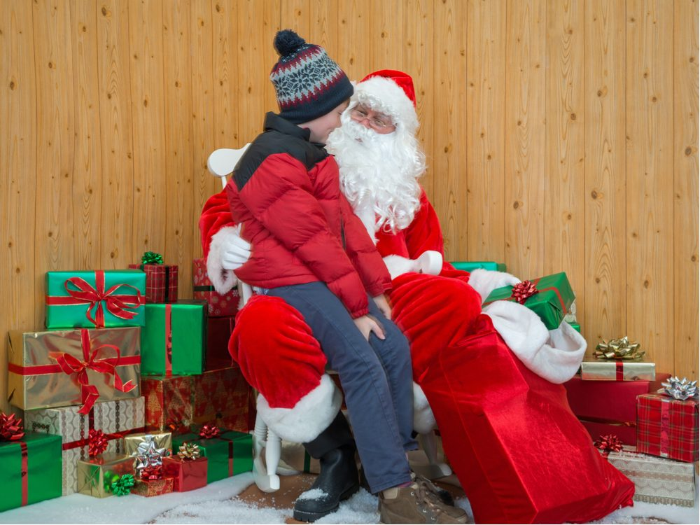 Mall Santa with child on his lap