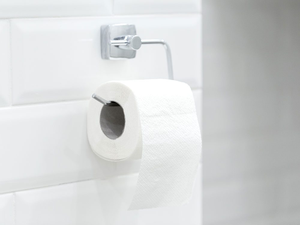 Only use white, unscented toilet paper