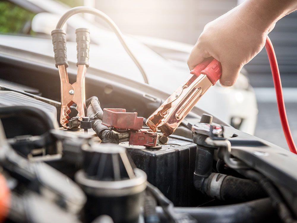 Jump-starting a dead car battery