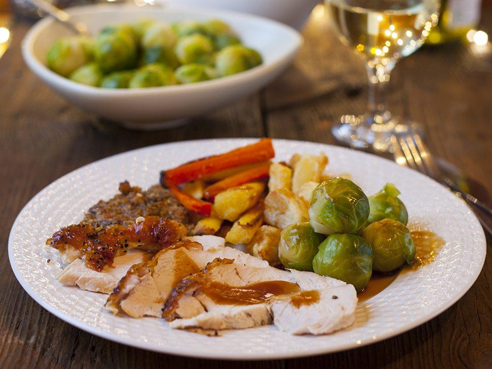 Serve Christmas dinner buffet-style