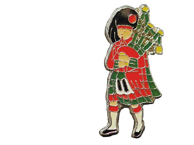 Rare pin collection: Scottish Man pin