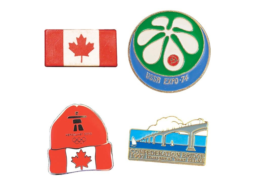 Rare pins from around Canada