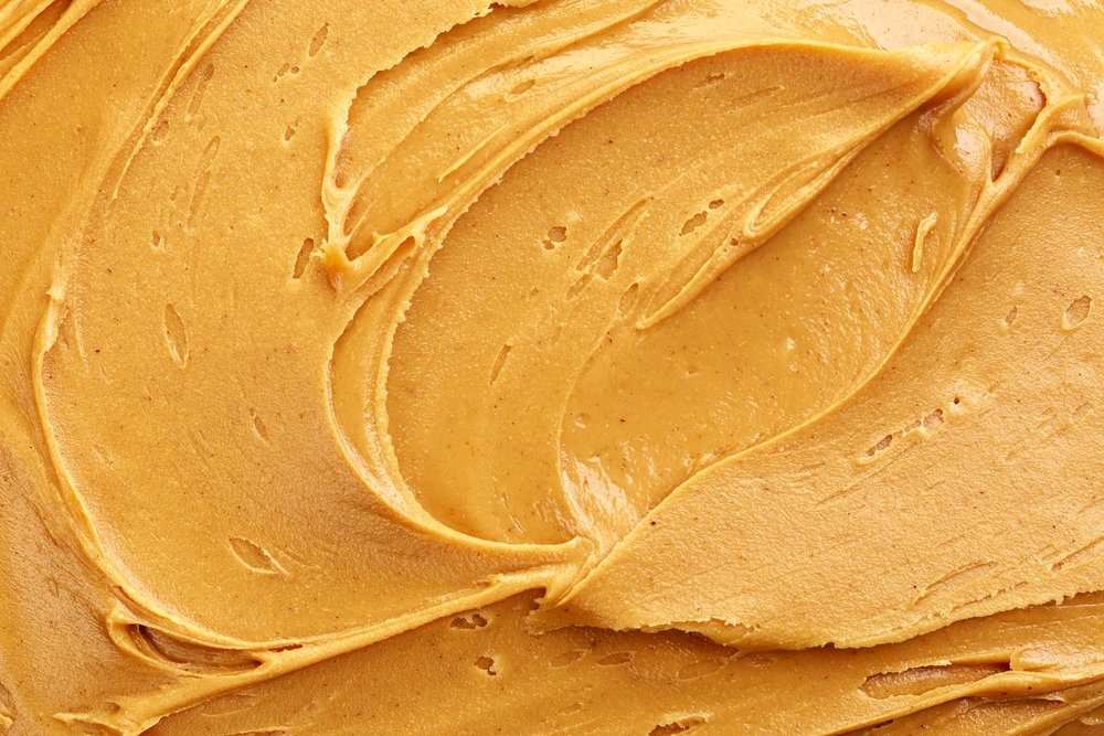 peanut butter background, top view
