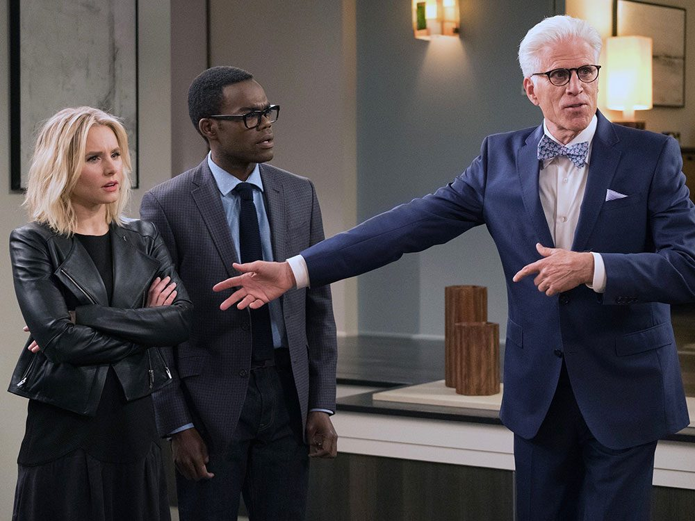 The Good Place quotes - Eleanor, Chidi and Michael